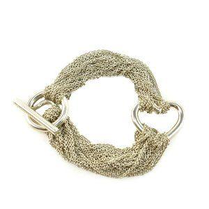 TIFFANY & CO Sterling Silver Heart Toggle Bracelet
